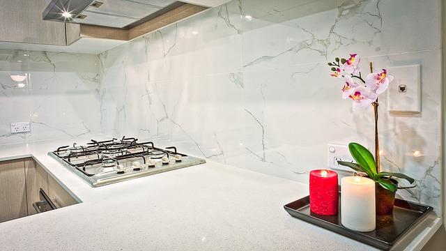 sporák, kuchyně, orchidej