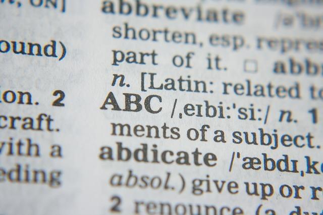 abc slovník